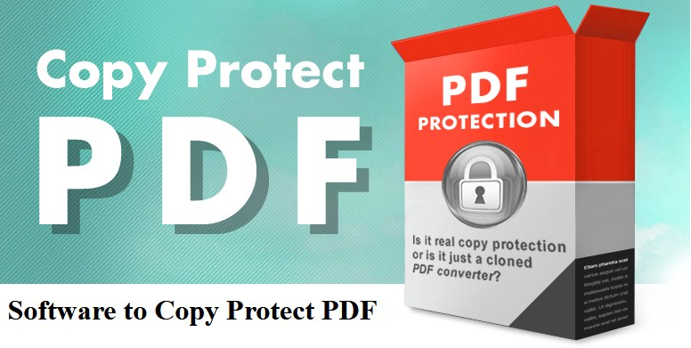 Software to Copy Protect PDF